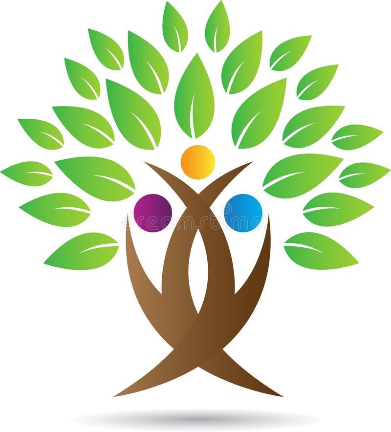Логотип дерева иллюстрация вектора