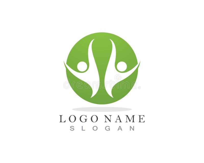 Логотип заботы людей иллюстрация вектора