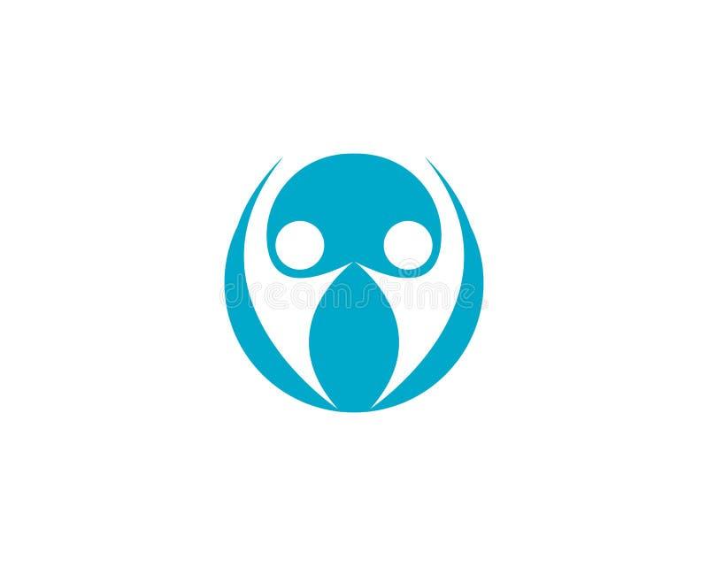 Логотип заботы людей иллюстрация штока