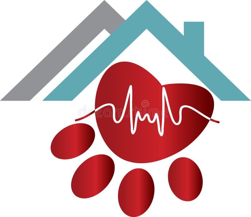 Логотип заботы любимчика иллюстрация штока