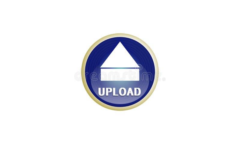 Логотип загрузки на белой предпосылке для сети также вектор иллюстрации притяжки corel иллюстрация вектора
