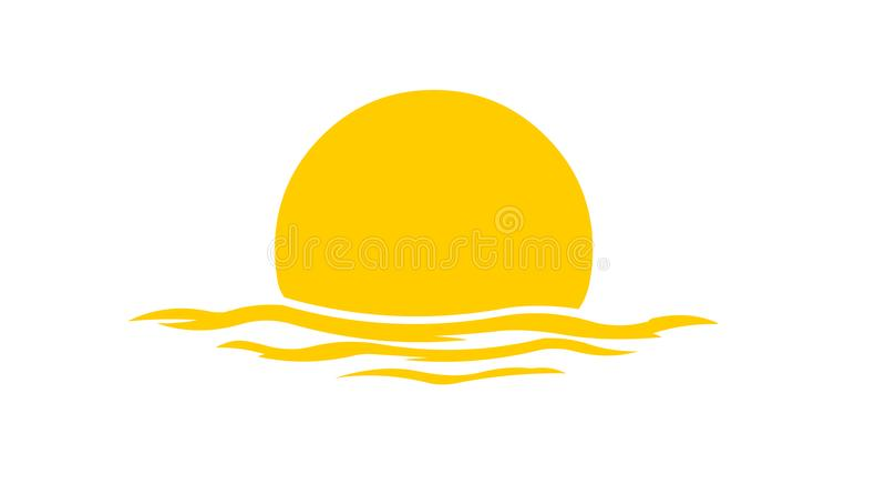 Логотип захода солнца иллюстрация штока