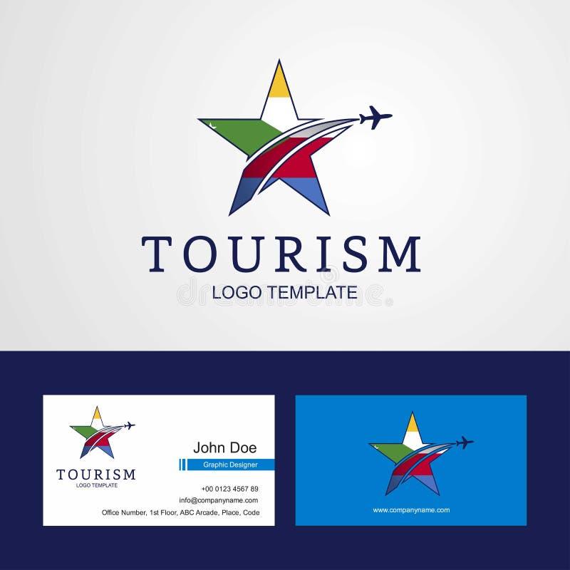 Логотип звезды флага Демократической Республики Конго перемещения творческий иллюстрация штока