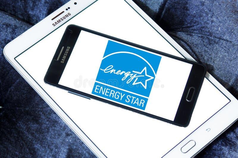 Логотип звезды энергии стоковое фото rf