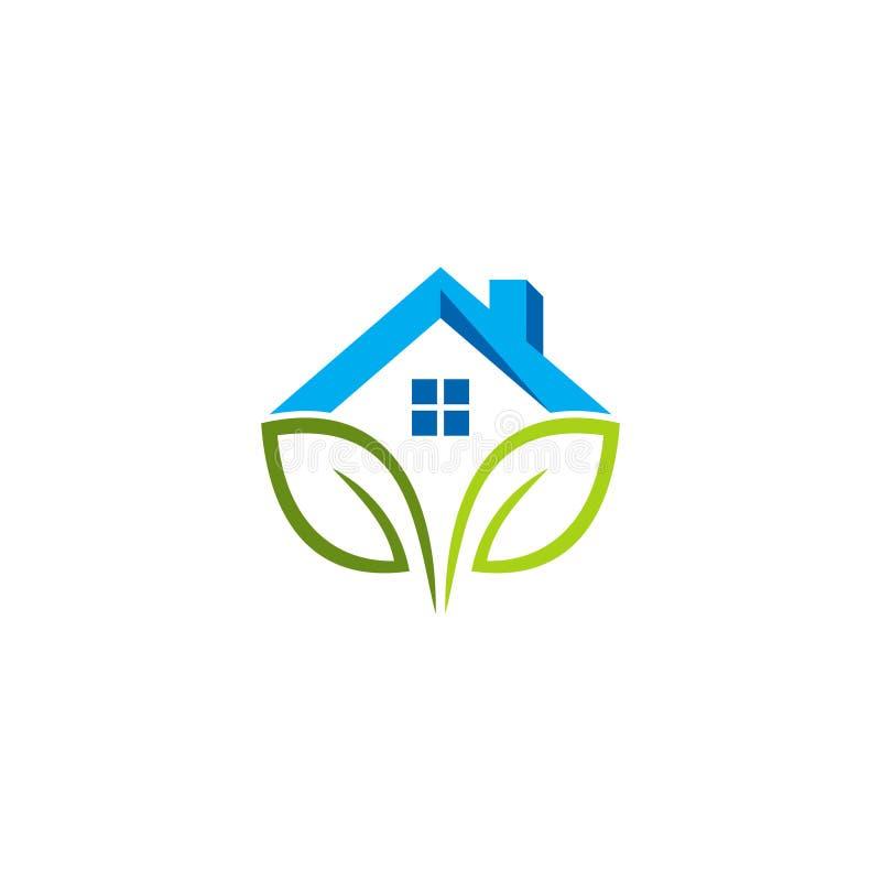 Логотип зеленого дома стоковое изображение rf