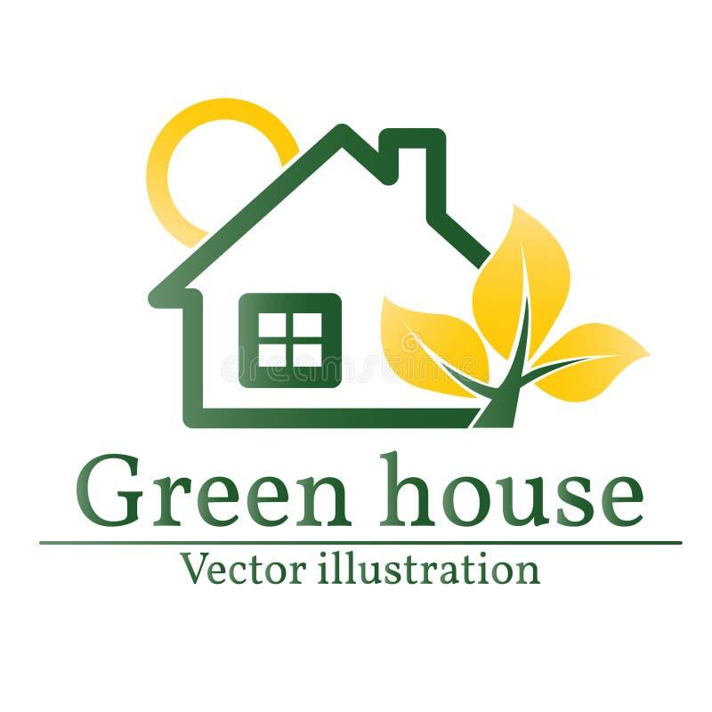 Логотип зеленого дома Дом Eco вектор бесплатная иллюстрация