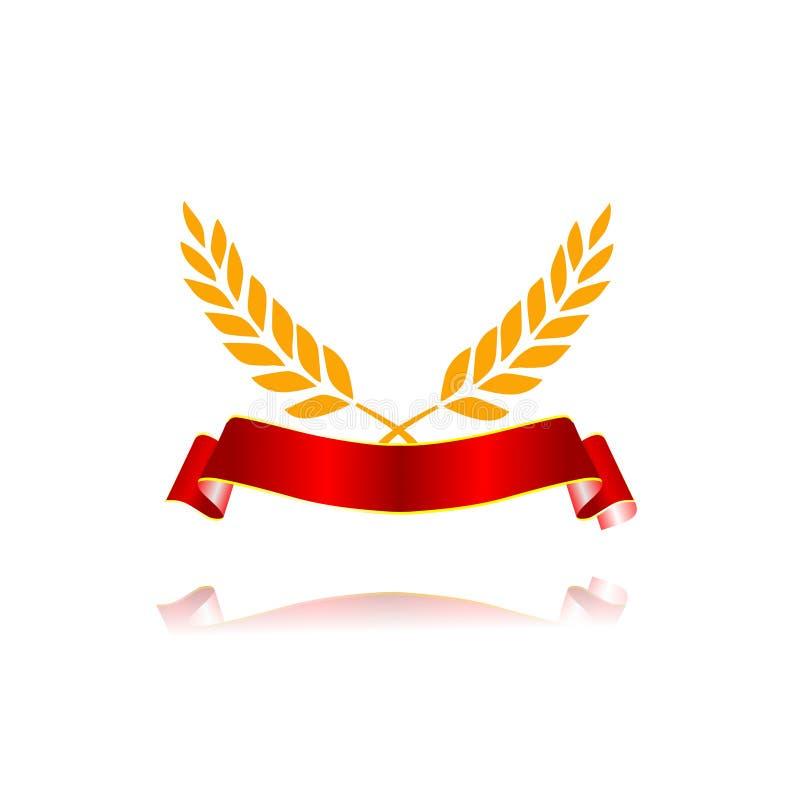 Логотип знамени еды пшеницы иллюстрация вектора