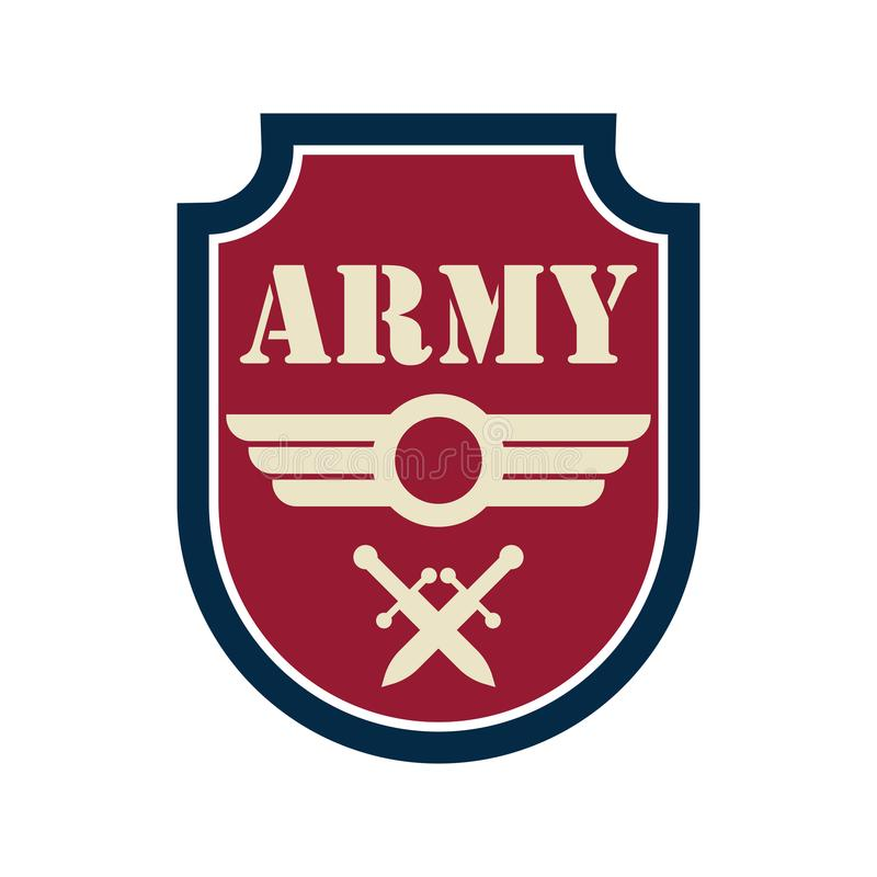 Логотип значка армии с космосом текста для ваших лозунга/слогана иллюстрация штока