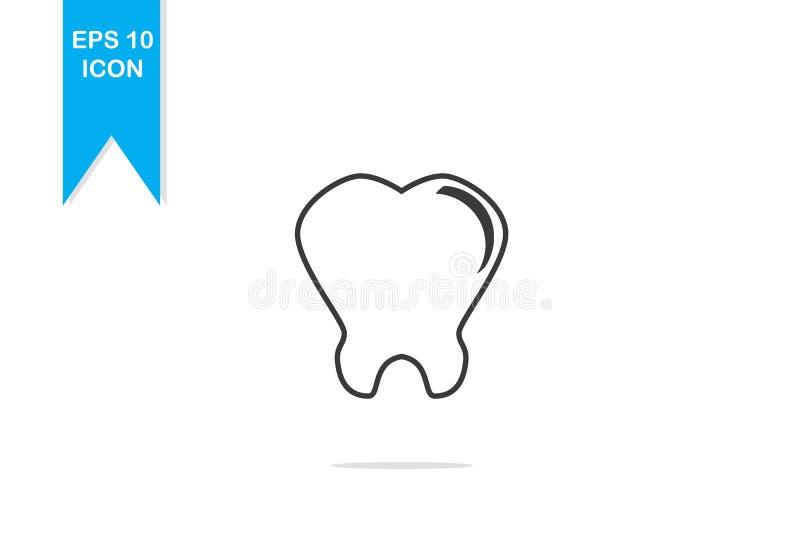 Логотип зубов простой стоковая фотография rf