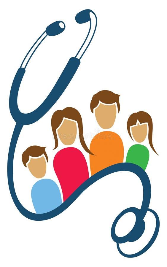 Логотип здоровья семьи иллюстрация штока