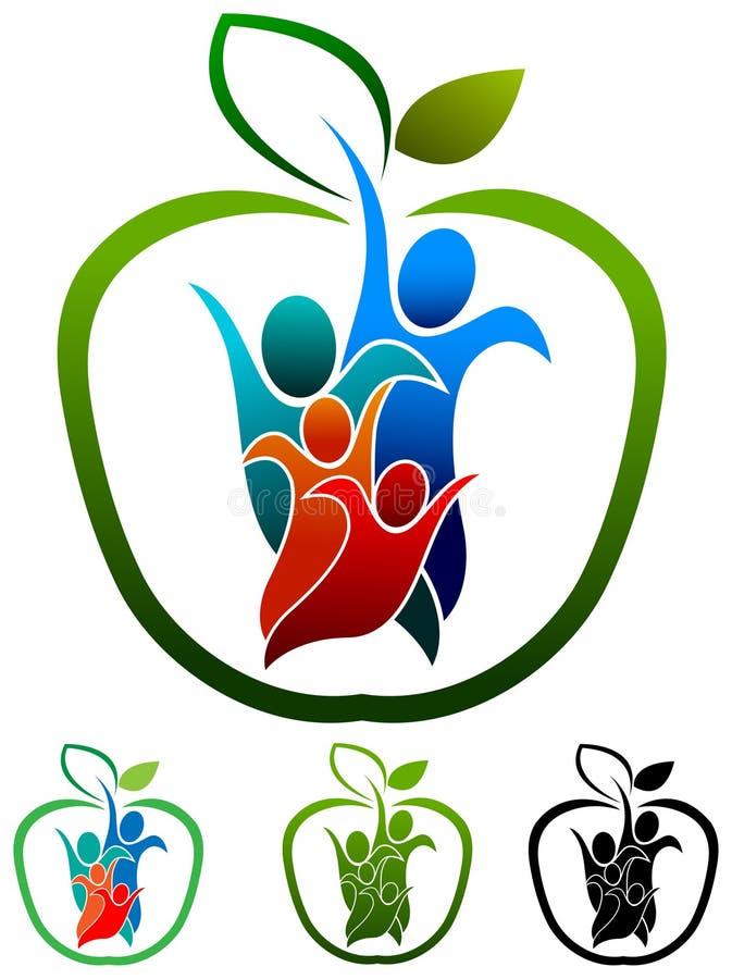 Логотип здоровья семьи иллюстрация вектора