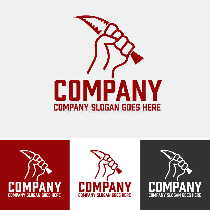 Логотип злодеяния стоковое изображение