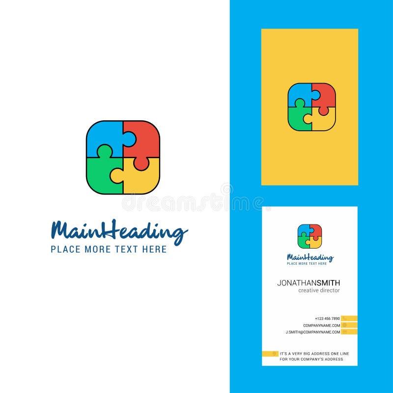 Логотип игры головоломки творческие и визитная карточка вертикальный вектор дизайна иллюстрация вектора