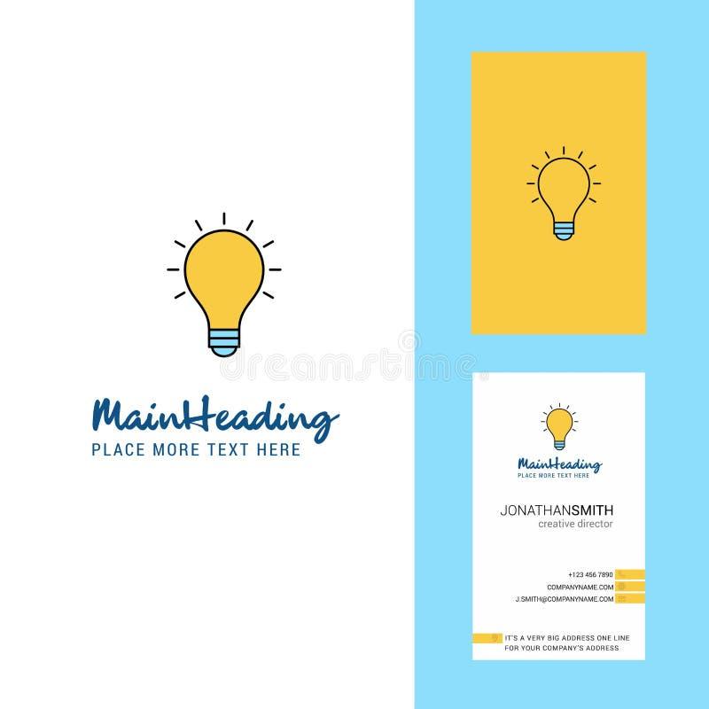 Логотип идеи творческие и визитная карточка вертикальный вектор дизайна бесплатная иллюстрация