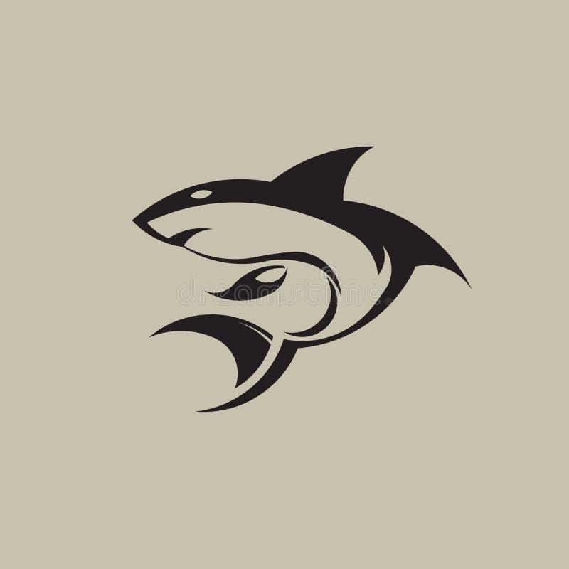 Логотип изображения вектора акулы иллюстрация вектора