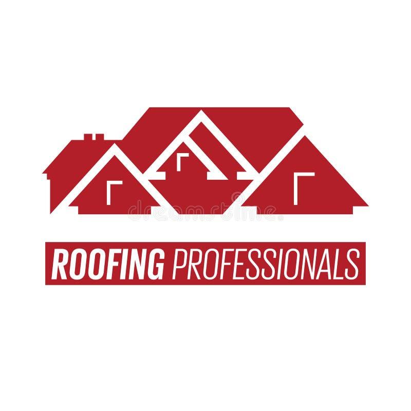 Логотип или знак крыши дома иллюстрация вектора
