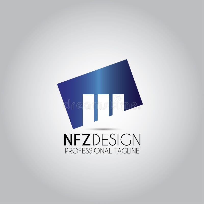 Логотип имущества башни строения иллюстрация штока