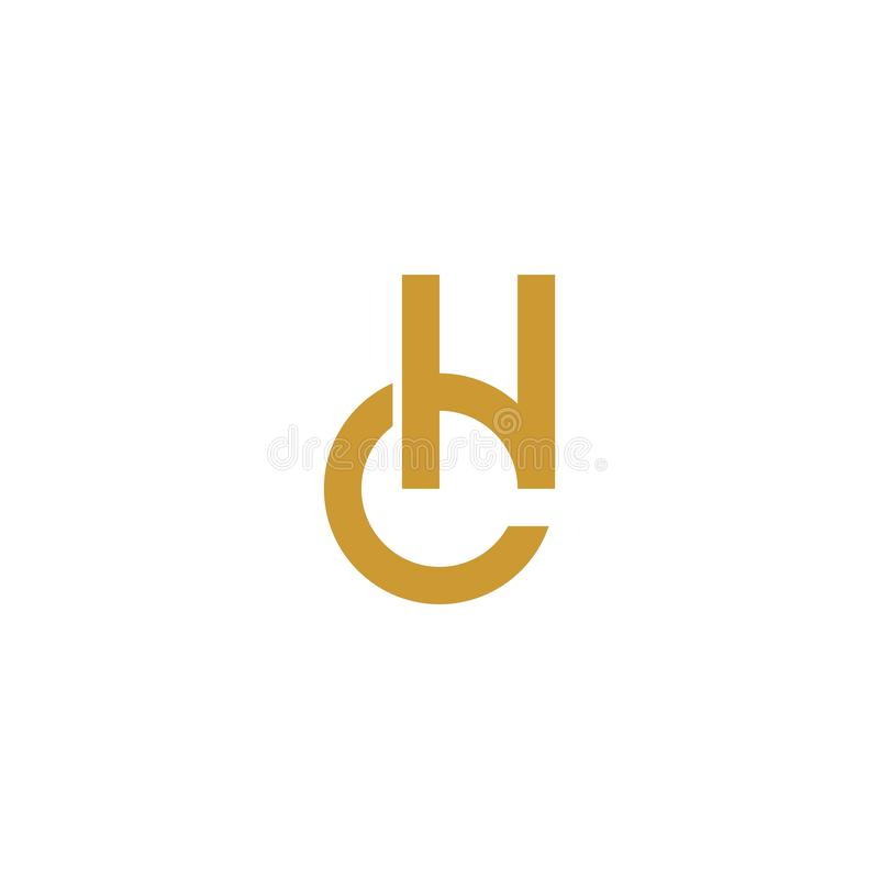 Логотип инициала письма CH золота бесплатная иллюстрация