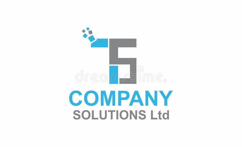 Логотип инициалов программного обеспечения иллюстрация вектора