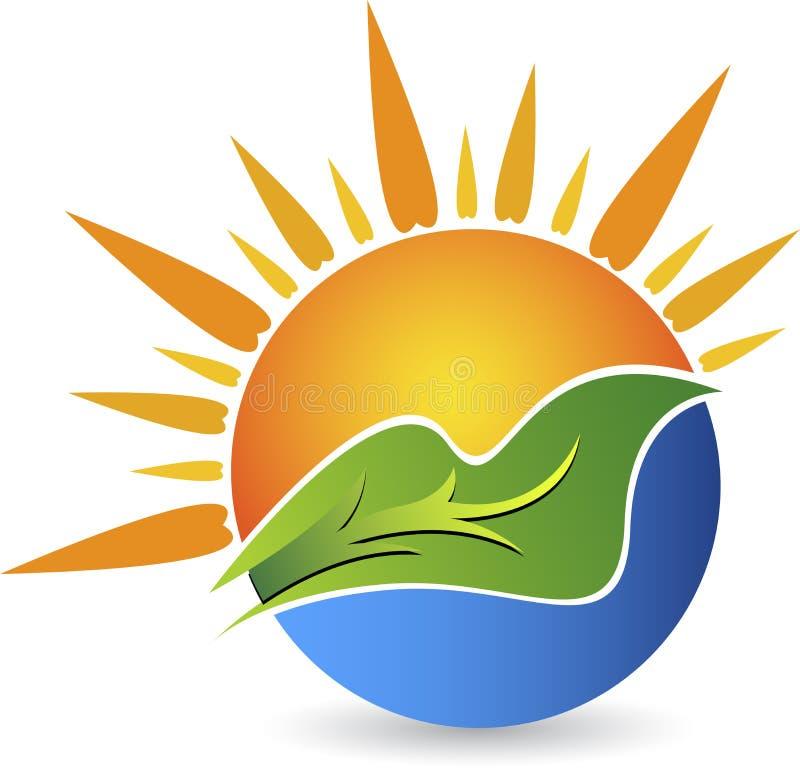 Логотип лист Eco иллюстрация вектора