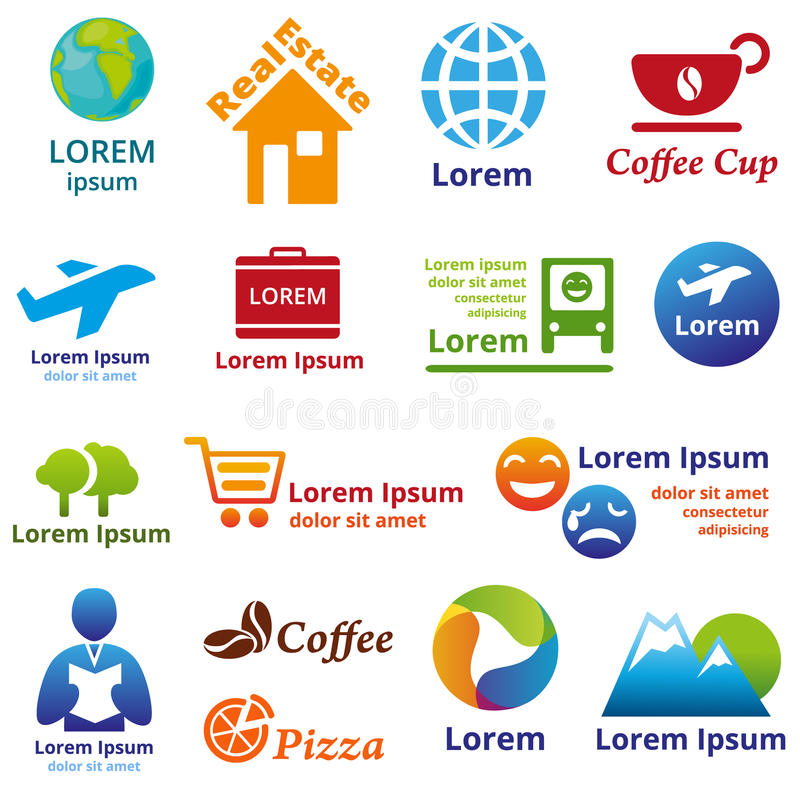 Логотип и имя компании бесплатная иллюстрация