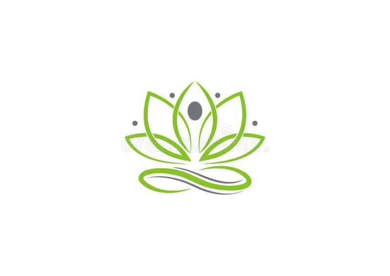 Логотип йоги разбивочный бесплатная иллюстрация