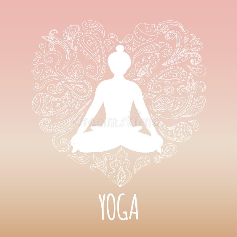 Логотип йоги иллюстрация вектора