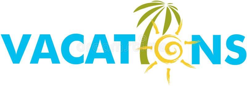 Логотип каникул бесплатная иллюстрация