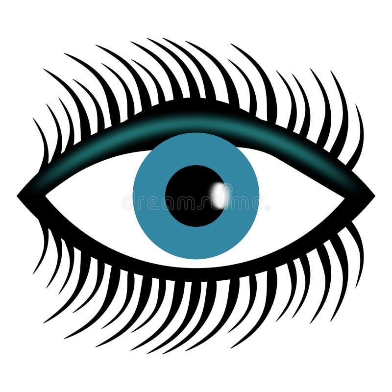 Логотип клиники глаза с белой предпосылкой бесплатная иллюстрация