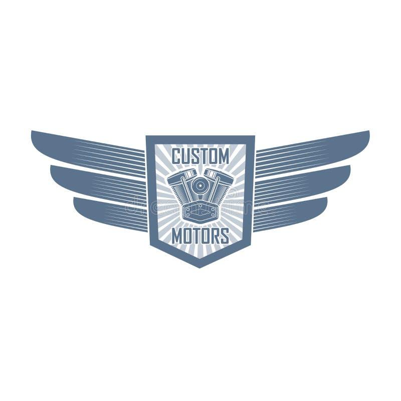 Логотип клуба мотоцикла вектора бесплатная иллюстрация