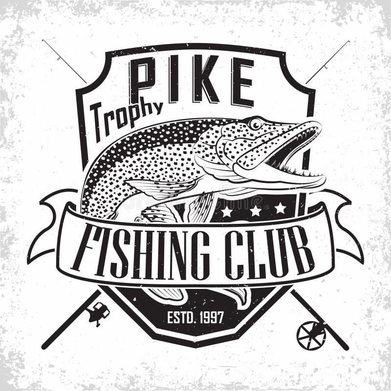 Логотип клуба рыбной ловли иллюстрация вектора