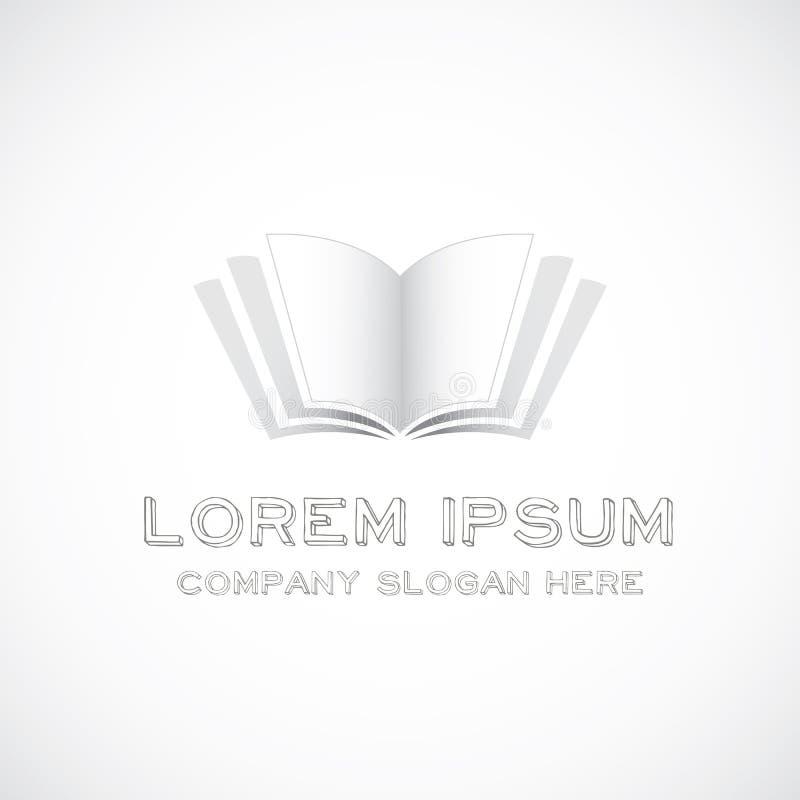 Логотип книги иллюстрация вектора