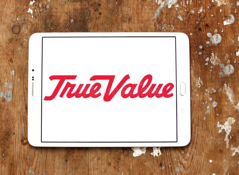 Логотип компании истинной стоимости стоковые изображения