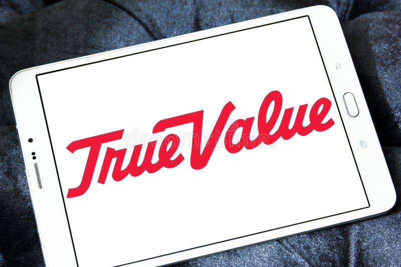 Логотип компании истинной стоимости стоковое фото rf