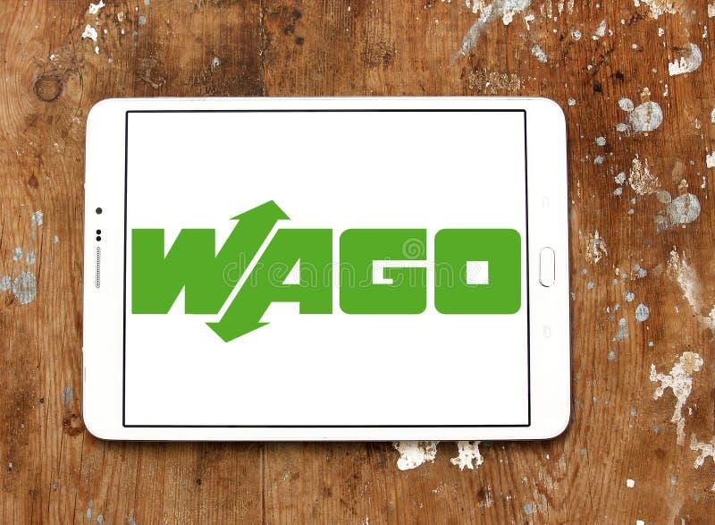 Логотип компании по продаже электроники WAGO стоковая фотография rf