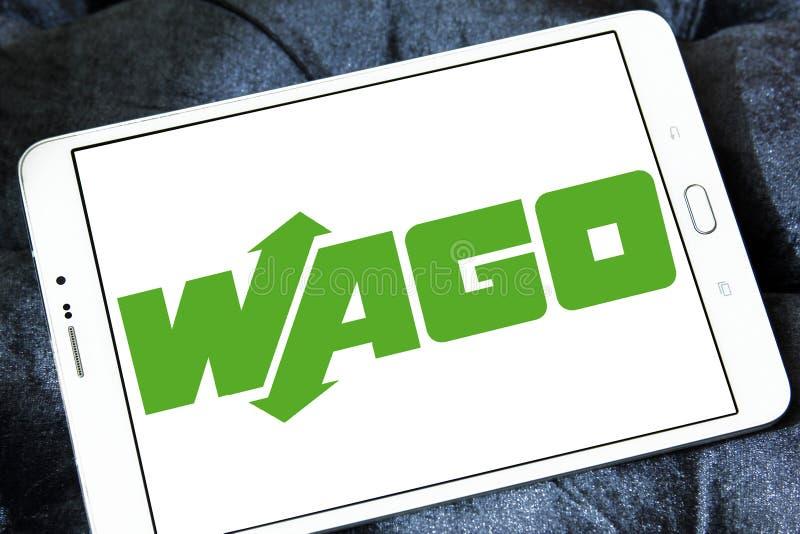 Логотип компании по продаже электроники WAGO стоковые изображения rf