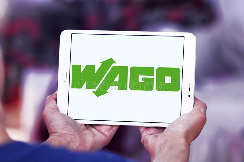 Логотип компании по продаже электроники WAGO стоковое изображение
