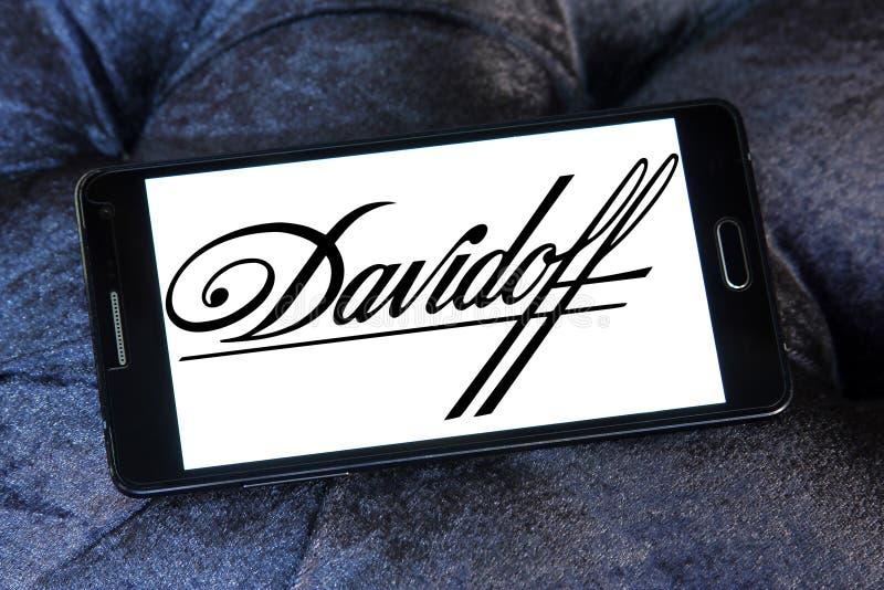 Логотип компании сигарет Davidoff стоковое фото rf