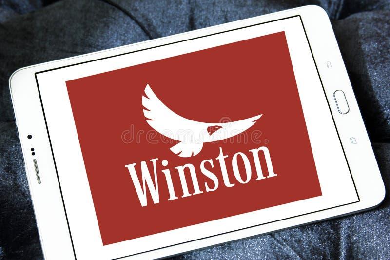 Логотип компании сигарет Winston стоковые фотографии rf