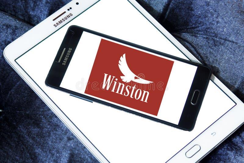 Логотип компании сигарет Winston стоковое изображение rf