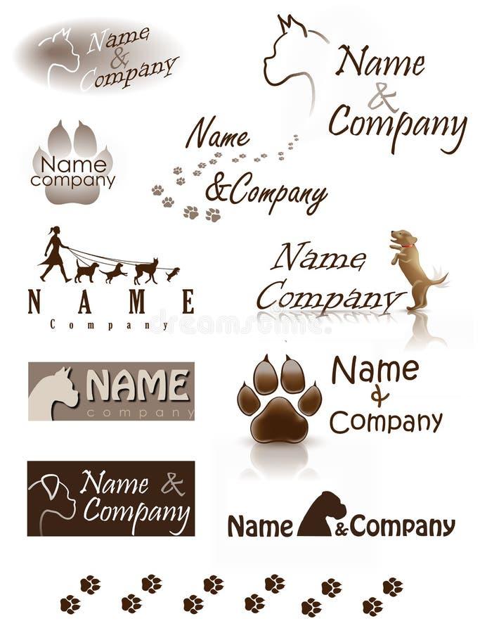 Логотип компании собаки стоковое изображение rf