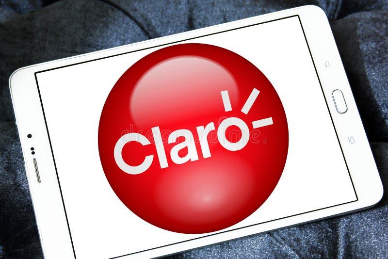 Логотип компании телекоммуникаций Америк Claro стоковое фото rf