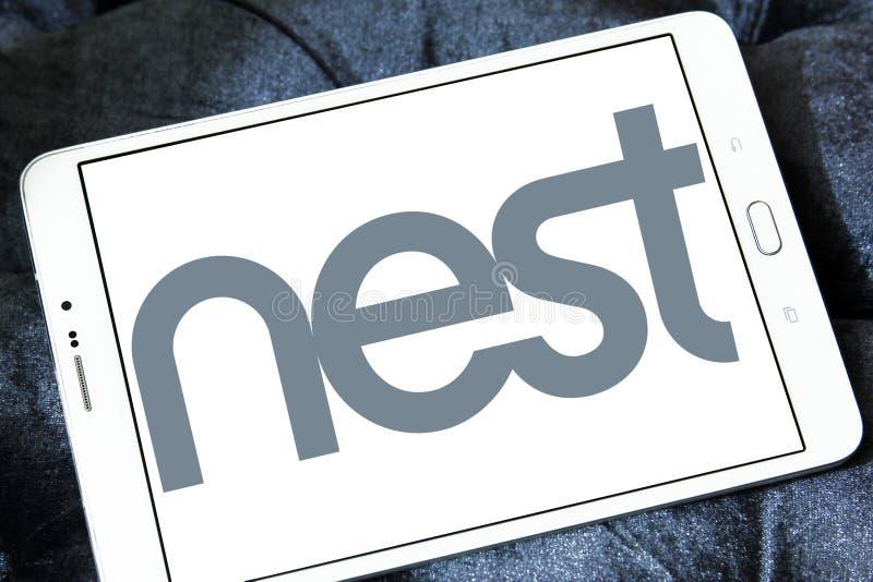 Логотип компании технологии гнезда стоковая фотография