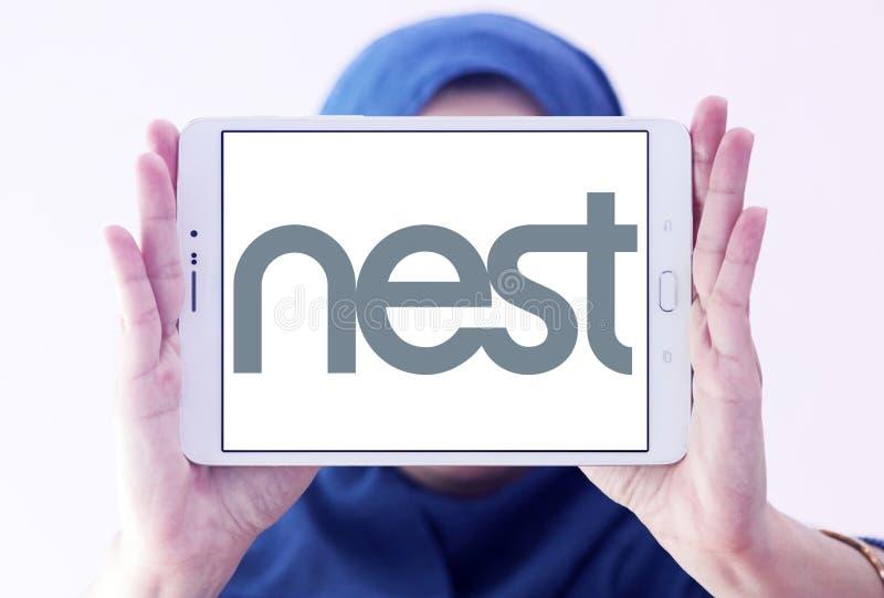 Логотип компании технологии гнезда стоковые фотографии rf