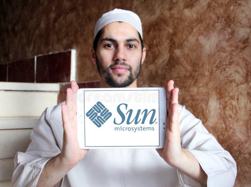 Логотип компании Sun Microsystems стоковые изображения