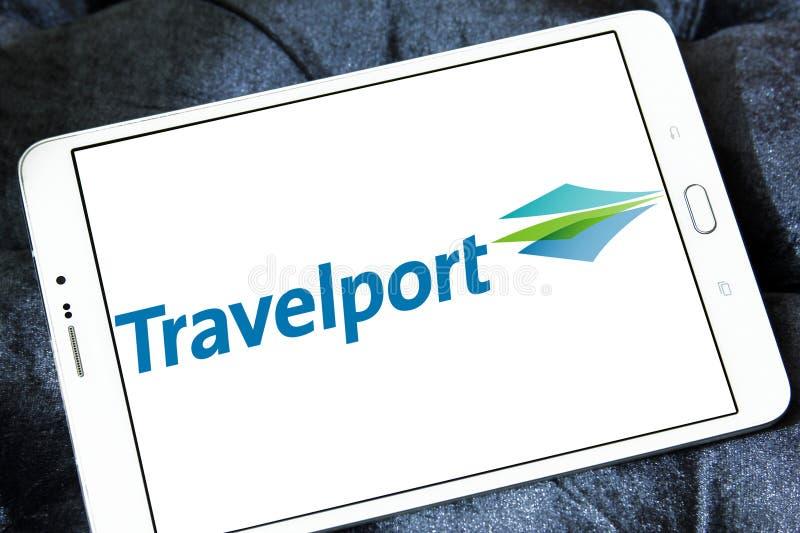 Логотип компании Travelport стоковая фотография