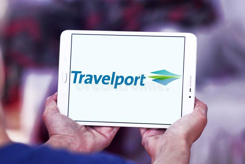 Логотип компании Travelport стоковые изображения rf