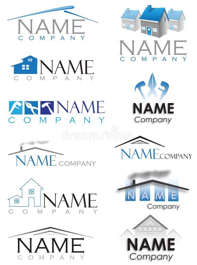 Логотип конструкции дома стоковое изображение rf