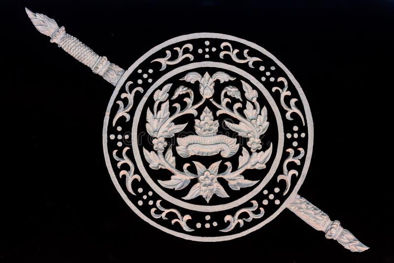 Логотип королевской тайской полиции стоковая фотография rf