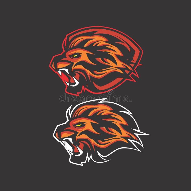 Логотип короля льва иллюстрация штока